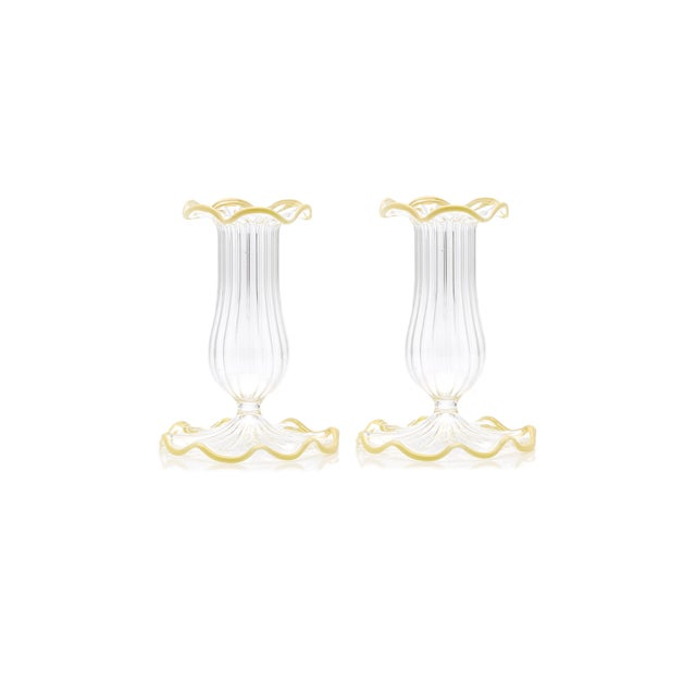 Moda Domus x Chairish Exclusive Candlesticks - Set of 2 For Sale - Image 4 of 7