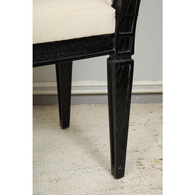 Wood Louis XVI Style Black Cerused Chairs - Set of 4 For Sale - Image 7 of 11