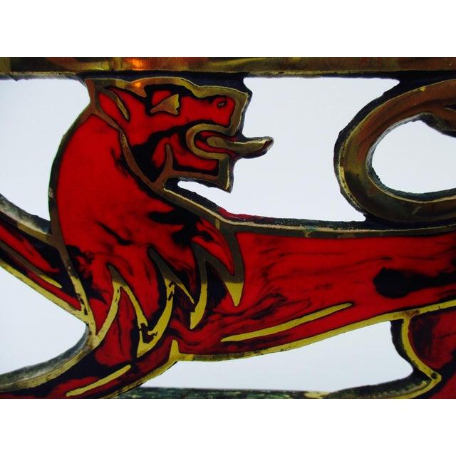 Hen Holon Brass & Enamel Lion Menorah - Image 8 of 9