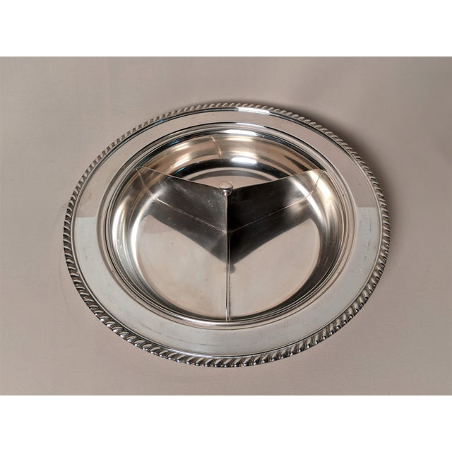Epc 1940s Silver Plate Serving Dish For Sale In Raleigh - Image 6 of 13