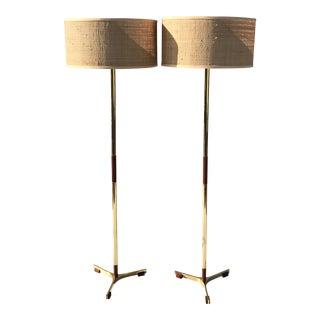 """Pair Jo Hammerborg """"President"""" Floor Lamps"""