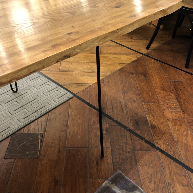 Custom Live Edge Wood Table For Sale - Image 9 of 11