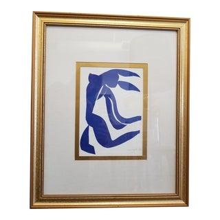 Henri Matisse La Chevelure Flowing Hair Blue Nude Offset Lithograph Print For Sale