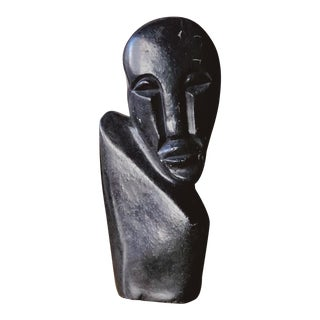 Soapstone Bust Made in Zimbabwe For Sale