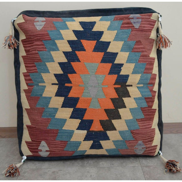 Handmade Kilim Rug Floor Cushion Pillow Cover - 24″ X 24″   Chairish