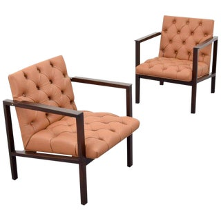 Vintage Mid Century Edward Wormley Armchairs- A Pair For Sale