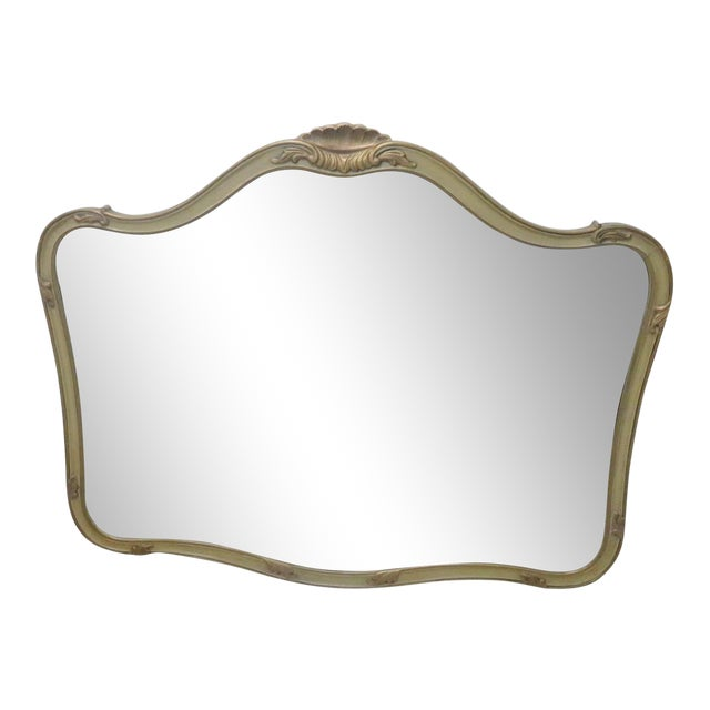 French Provincial Style Paint Decorated Mirror - Image 1 of 6