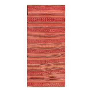 "Apadana - Fine Vintage Pink/Striped Turkish Flatweave Carpet, 5'5""x10'7"""