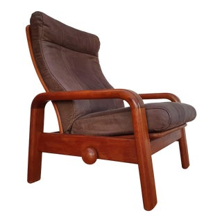 1980s Vintage Danish Adjustable Lounge Chair For Sale