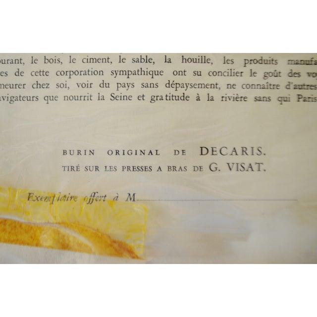French La Seine au Travail Framed Etching - Image 9 of 9
