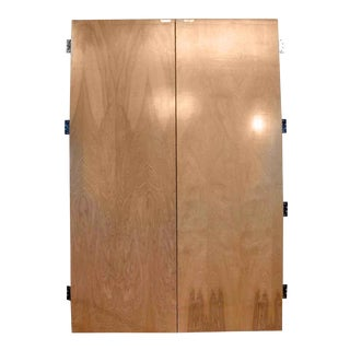 20th Century Traditional Flush Maple Veneer Double Doors - 2 Pieces