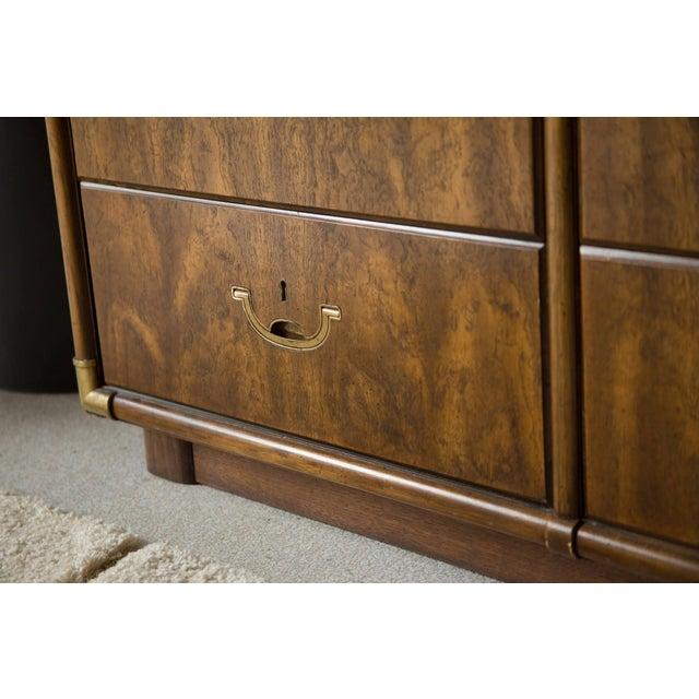 Metal Vintage Campaign Nine Drawer Dresser by Drexel For Sale - Image 7 of 13