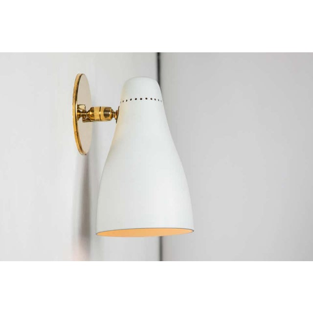 1950s Gino Sarfatti Perforated Cone Sconces for Arteluce - a Pair For Sale - Image 10 of 13