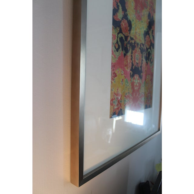 Vintage Orange and Pink Remand Print by Sochier and Marian For Sale - Image 4 of 6