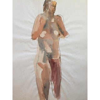 1970s Bay Area Figurative Painting Female Nude Standing For Sale