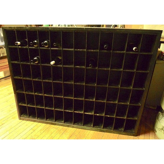 1970s Storage Cabinet of Painted Steel as Wine Rack, Dvd, CD Storage, 72 Cubbies For Sale - Image 5 of 13