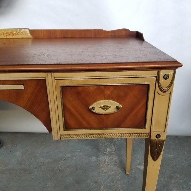 Antique Flint & Horner French Deco Writing Desk/Vanity For Sale In Chicago - Image 6 of 13