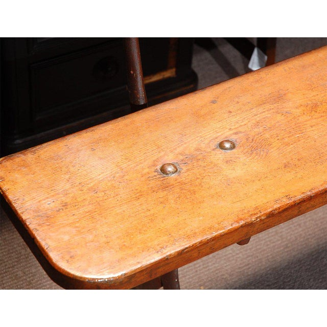 Mid 19th Century English Bench in Iron and Wood, Circa 1890 For Sale - Image 5 of 8