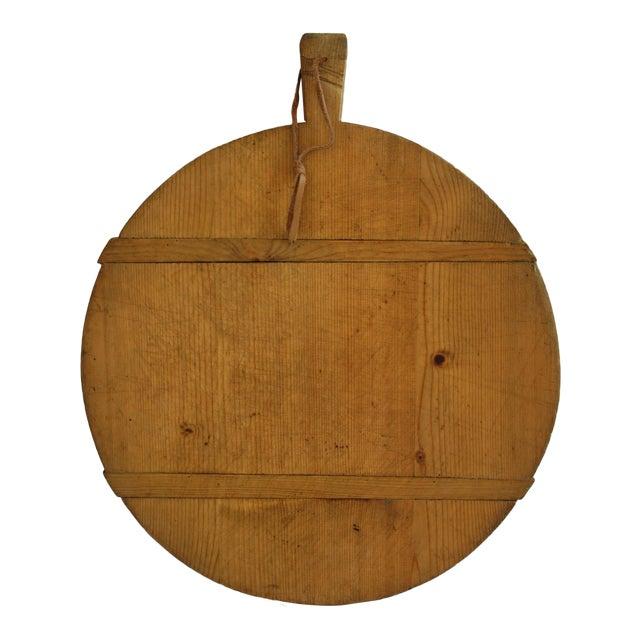 1920s Large French Harvest Bread Cheese Board - Image 1 of 5