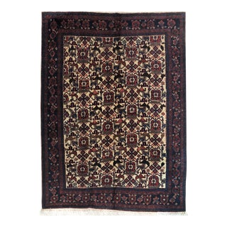 1920s Antique Persian Afshar Rug - 5′2″ × 6′8″