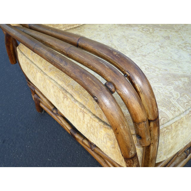 Vintage Rattan Accent Arm Chair - Image 8 of 11