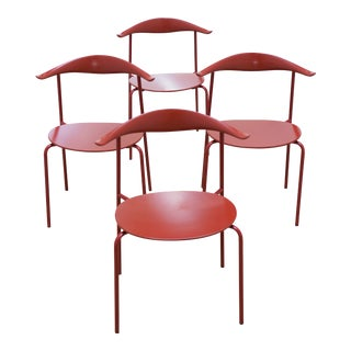 Wegner for Hansen & Son Stacking Chairs- Set of 4 For Sale