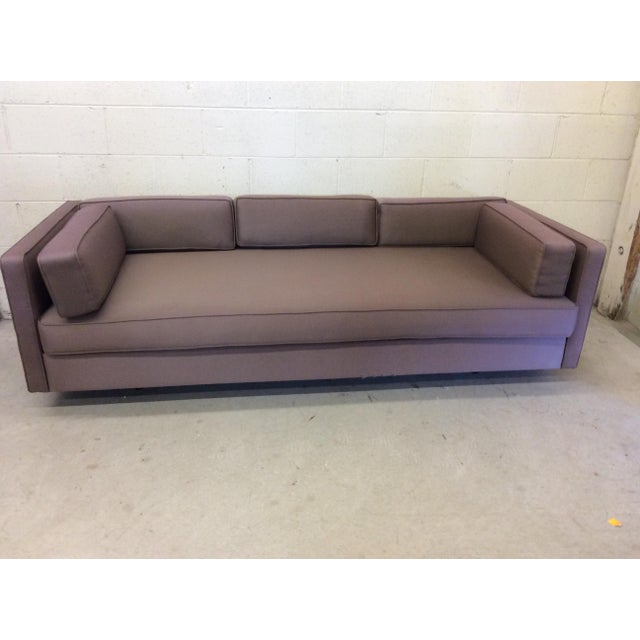 I believe this sofa was custom made for a commercial setting. The construction is solid, yet easily taken apart for...