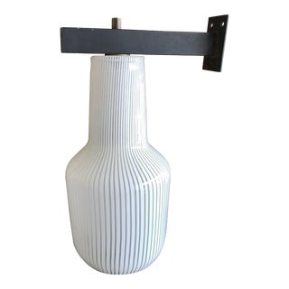 Original Venini Vignelli Glass Sconce Lamp For Sale