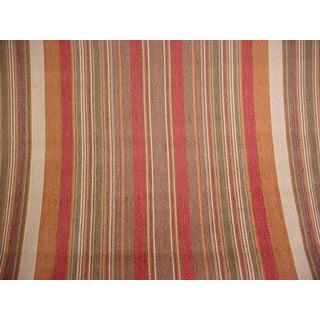 Ralph Lauren Santa Ysabel Stripe Clay Upholstery Fabric - 2 7/8 Yards For Sale