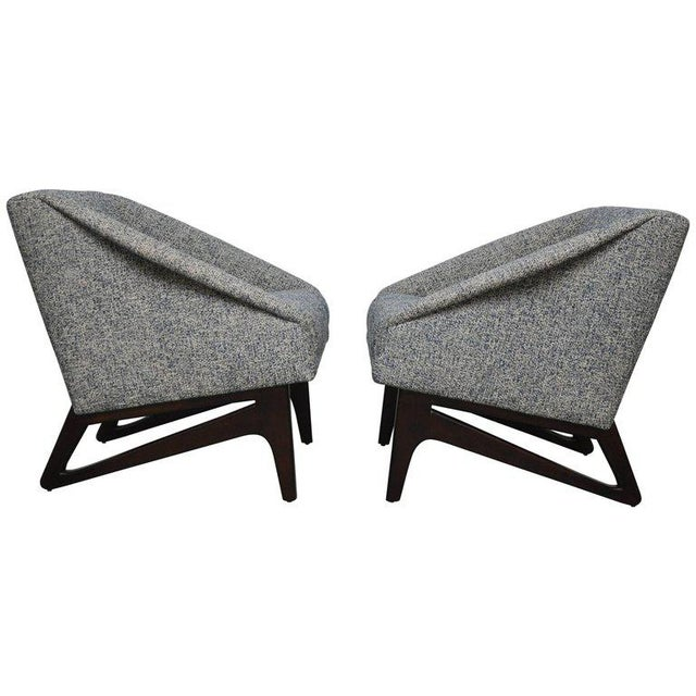 Wood Pair of Italian Sculptural Form Lounge Chairs For Sale - Image 7 of 7