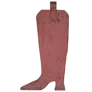 Cowboy Boot Advertising Sign For Sale