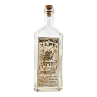 Vintage Style Dr. Baldwin's Bitters Remedy Bottle