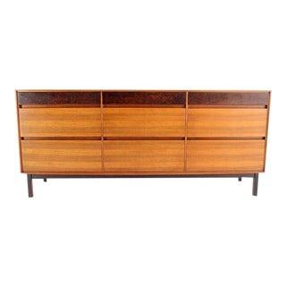 Danish Modern John Stuart Walnut Long Dresser For Sale
