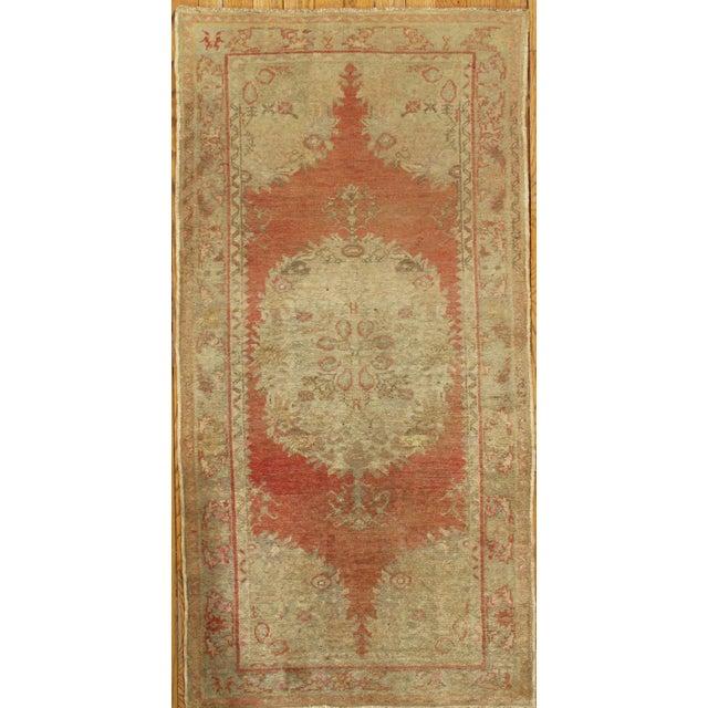 """Vintage Turkish Oushak Rug - 3'2"""" x 6'4"""" - Image 2 of 3"""