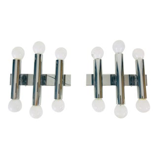 1960s Mid-Century Chrome Wall Lamps by Doria Leuchten, Germany - a Pair For Sale