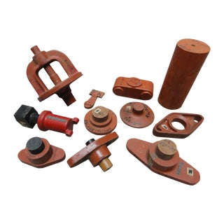 Decorative Wood Industrial Molds - Set of 11 For Sale