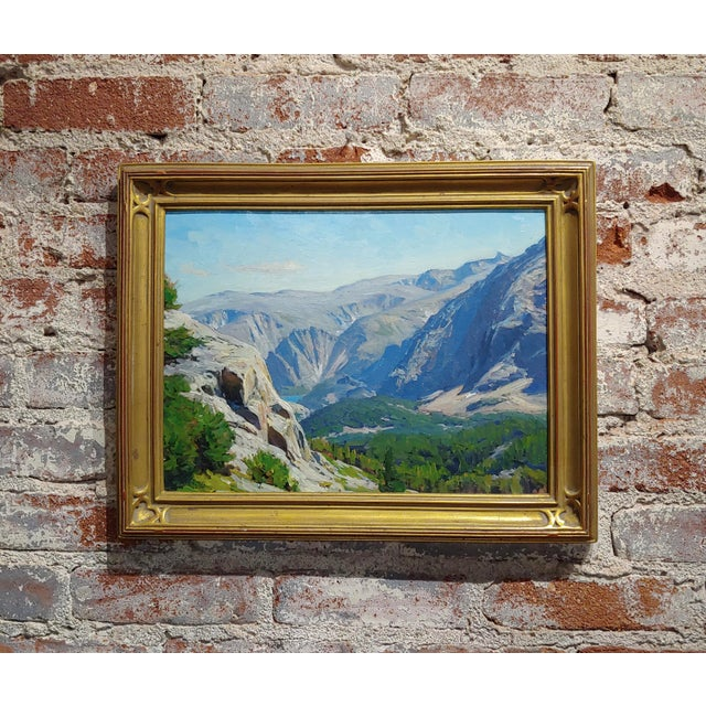 1970s Vintage Taylor Lynde Montana Lake Scenery Oil Painting For Sale - Image 10 of 10