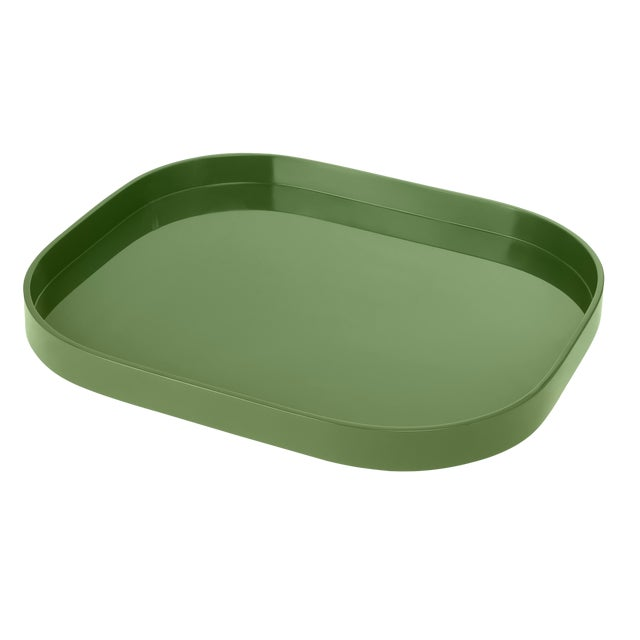Not Yet Made - Made To Order Miles Redd Collection Large Stacking Tray in Lettuce Green For Sale - Image 5 of 5