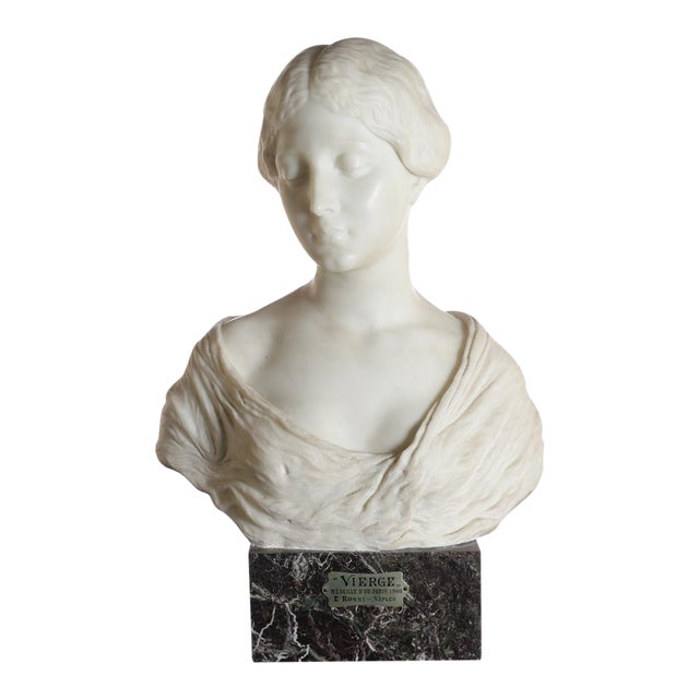 Antique Italian Marble Bust of a Female For Sale