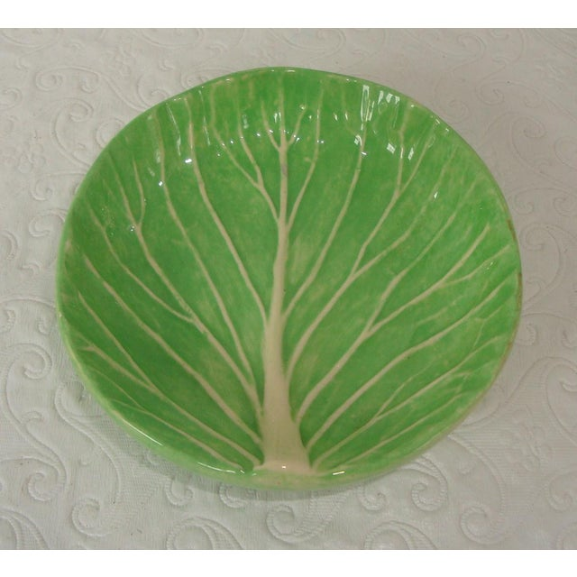 Perfect example of Dodie Thayer lettuce ware in a small open dish, likely intended as a butter pat dish, but could be used...