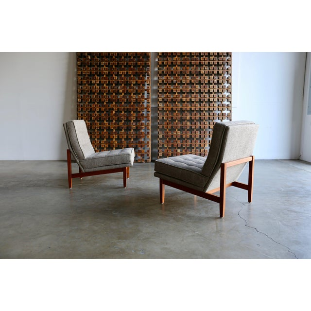 Mid 20th Century Mid Century Florence Knoll Slipper Lounge Chairs - a Pair For Sale - Image 5 of 12