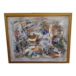 Neo Impressionism Abstract Signed Oil Painting For Sale