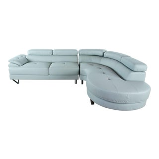 Oren Ellis Leather Sectional Sofa For Sale
