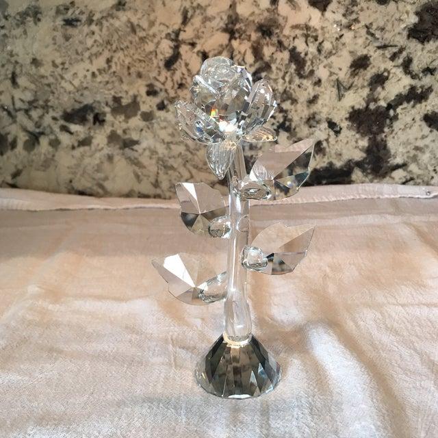 Crystal Rose Stem Figurine For Sale - Image 4 of 4