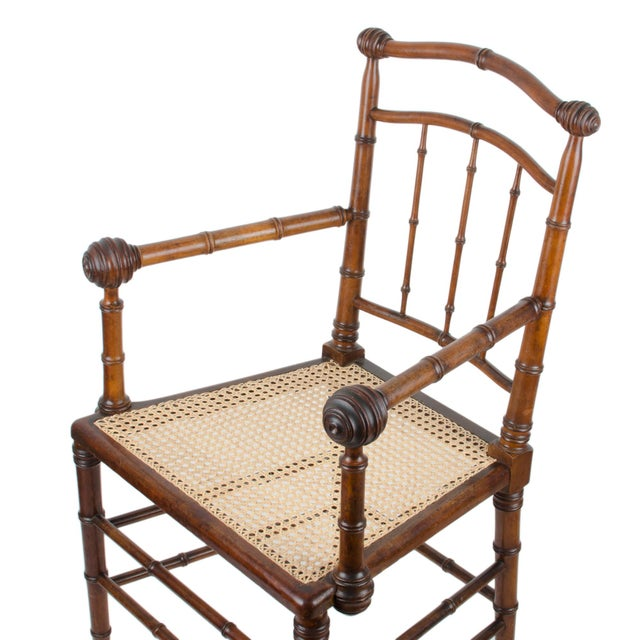 R.J. Horner & Co. Faux-Bamboo Armchair - Image 6 of 10