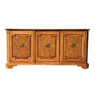 Walnut and Oak 3 Door Credenza by Baker Furniture For Sale