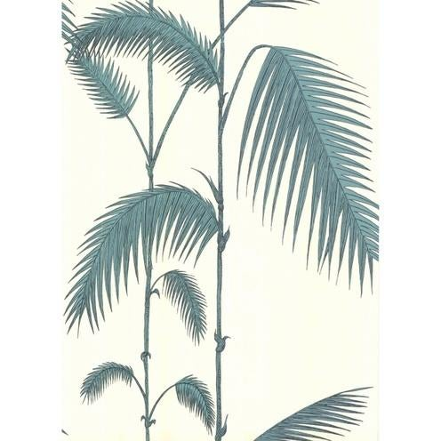 Contemporary Cole & Son Palm Leaves Wallpaper Roll - White/G For Sale - Image 3 of 3