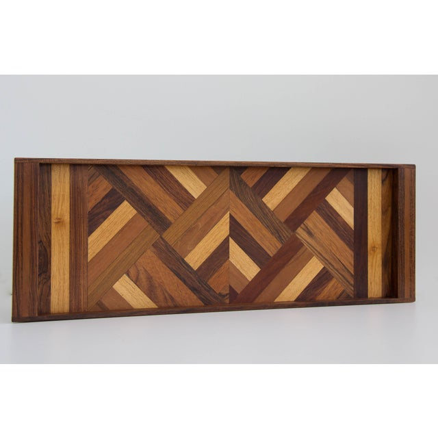 Rosewood Don Shoemaker Rosewood Inlay Tray For Sale - Image 7 of 7