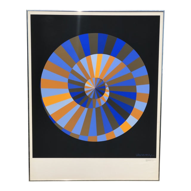 1972 Vintage Victor Vasarely Limited Edition Official Munich Olympic Serigraph Poster For Sale
