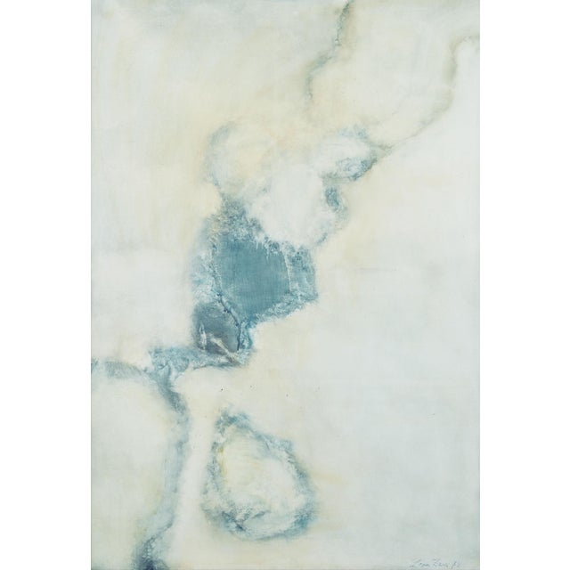 "1970s Lyrical Abstraction Oil Painting by Léon Zack, ""Untitled"" For Sale - Image 5 of 5"